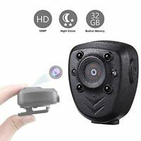 Wearable Body Mounted Camera,1080P Wireless Mini Video Recorder with Night