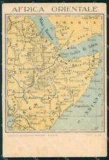 Militari Africa Orientale Mappa IGM FG cartolina XF7392