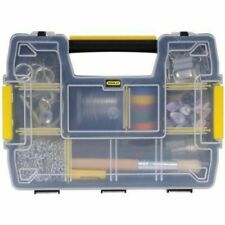 STANLEY Plastic Compartment Box,10 Compartments, STST14021, Black/Yellow