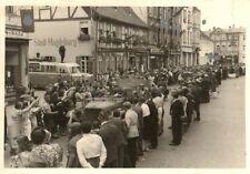 16382/ Originalfoto 8x12cm, Soldaten, SdKfz, Parade, ca. 1940