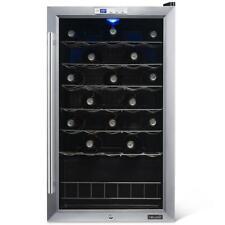 NewAir Wine Cooler Fridge Single Zone 33 Bottle Exterior Digital Thermostat