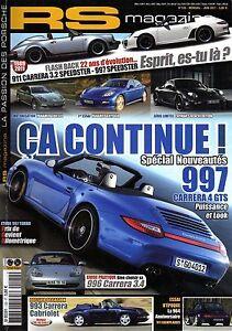 RS MAGAZINE 120 PORSCHE 997 CARRERA 4 GTS 911 997 SPEEDSTER 993 CABRIO 914/6 GT