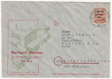 Werbe Brief 1948 SBZ Gerhard Richter Forst Lausitz Geschäftspost (B7
