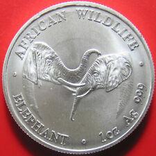 2002 ZAMBIA 5000 KWACHA 1oz SILVER MATTE AFRICAN ELEPHANT WILDLIFE RARE! 40mm