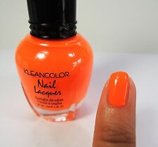 1PC Kleancolor Nail Polish Lacquer #19 Neon Orange Color Nail Polish