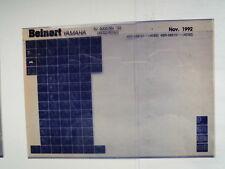 YAMAHA XJ 600_S _ SN _ 1993 microfilm catalogo PEZZO DI RICAMBIO LISTELLO