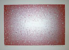XENAKIS Contantin Lithographie Originale Signée abstraction art abstrait