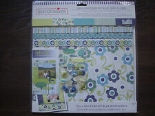 SCRAPBOOK set page kit blue jeans 707 pieces best deal sale