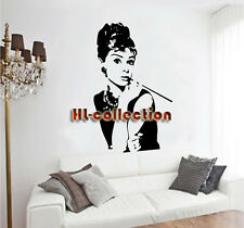 Audrey Hepburn II Removable Wall Art Decal Vinyl Sticker Mural Home Decor HL27