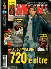 FORZA MILAN!=N°11 2003 ANNO XXXV=POSTER CAFU=CLUB BRUGGE=PAOLO MALDINI=KAKA=