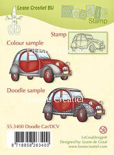 Leane Creatief CLEAR STAMP-Doodle Auto/DCV - 55.3400 - creazione di biglietti-Nuovo in