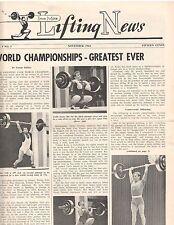 IronMan Lifting News Muscle Weightlifting Magazine/World Championships 11-62