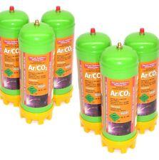 6x Einweg Schutzgasflasche 13,2L - 6 je 2.2L CO2 Argon Flasche 51601 Gas flasche