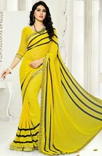 Stylist Multi Color Printed Chiffon Saree with a Blouse D.No SK417