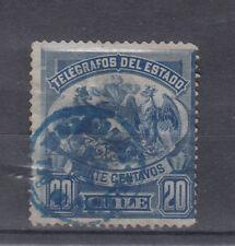Chile Briefmarken 1891 Telegrafenmarken Mi 3 gestempelt