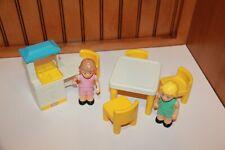 Vintage Little Tikes Dollhouse Furniture Kitchen Set Table & Chairs