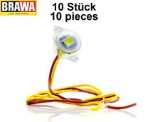 Brawa 94700 Beleuchtungssockel warmweiß mit LED (10 Stück) - NEU + OVP