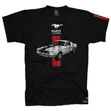 Ford Mustang T-Shirt Logo Musclecar 50 years Licensed Design + armdruck  *0030 .