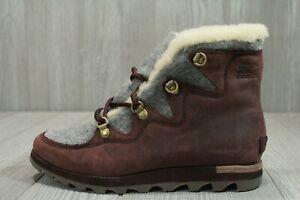63 Sorel Sneakchic Cattail Women's SZ 8 Boots Alpine Winter Leather NL3287908