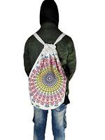 Indian Light Weight Mandala Cotton Unisex Travels Bag Handmade Backpack Bag