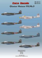 Euro décalcomanies Gloster METEOR FR.MK.9 DECALS ROYAL AIR FORCE-WW11 RAF 1/48