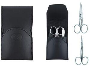 Nubuck Leather & Stainless Steel Inox Manicure Set Case Men's DOVO Solingen
