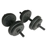 Opti Weight Lifting 15kg Dumbbells (2x 7.5kg) Home Gym Workout Free Weights 🔥