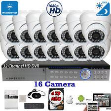 32 Channel DVR 16pcs 1080P HD Night Vision Home CCTV Security Camera Set w/ 4TB