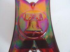 1976 Joe St Clair TOOTHPICK HOLDER RUBY Iridescent Bicentennial  Bell Nixon