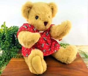 Vermont Teddy Bear Company Get Well Plush Red Cow Hospital Gown Vintage 1992 NOS