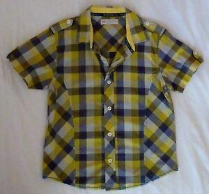 Shirt, Boys, 7 yrs, Hht 122cm, Checkered design, Marks & Spencer, B/New No Tag
