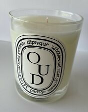 PRE OWNED DIPTYQUE OUD SCENTED CANDLE NO BOX 190G 6.5 OZ