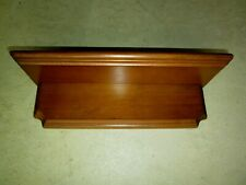 "Vintage plain basic 1 Tier Solid wood Wall Display Knick Knack Shelf 12"" long"