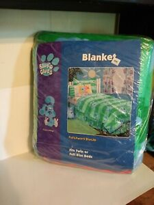 Blues Clues Baby Toddler Blanket Throw 100% Polyester Vintage Rare