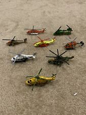 Eight Matchbox Skybusters Police Military Jungle Helicopter Lot EUC