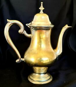 Antique style  Silver Plated EPNS Solid Brass Tea or Coffee Pot