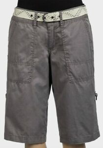 Ex-Chainstore Womens Belted Cargo Cotton Shorts Size -UK  10, 12, 14, 16, 18