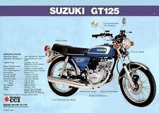 1974 SUZUKI GT125L GT125 SPECS SALES AD