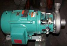 New Tri Clover 5 Hp Stainless Steel Centrifugal Pump C216se18tt S 2 X 15