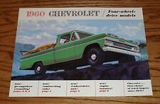 1960 Chevrolet 4-Wheel Drive Truck Foldout Sales Brochure 60 Chevy
