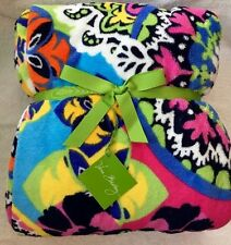 Vera Bradley Plush Throw Blanket RIO Colorful Pattern NWT NEW Sold Out GIFT