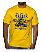 Harley-Davidson Men's Retro Racer Short Sleeve Crew Neck T-Shirt, Yellow