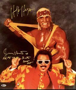 Hulk Hogan & Jimmy Hart Signed 16x20 Photo WWF WCW NWO BAS I57112