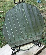 "Round Deco Vintage Diamond Cut Beveled Mirror Frameless Antique 15"" Scalloped"