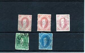 ARGENTINA 1864/67 Used (5  Items) ZA 471s