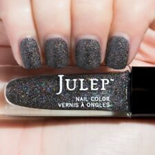 NEW! Julep nail polish in REINA Vernis ~ Black Holographic Textured Microglitter