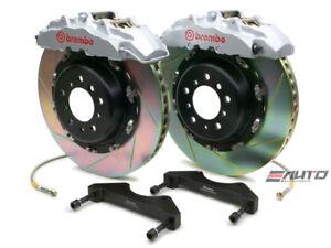 Brembo Front GT Big Brake Kit BBK 8 piston Silver 380x34 Slot A8 D3 04-10