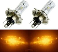 LED 30W 9003 HB2 H4 Orange Amber Two Bulbs Fog Light Replace Show Use Lamp Fit