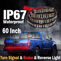 "60"" Inch LED Strip Tailgate Tail Light Stop Brake Lamp Indicator Car Truck CHK"