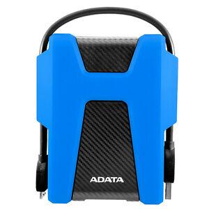 ADATA HD680 BLUE 1TB External HDD USB 3.2 Military-Grade Protection Shock Sensor